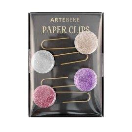 Büroklammern Lesezeichen Glitter 4er Set Rosé