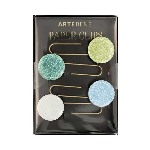 Paperclips bookmark glitter blue