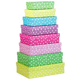 gift boxes/rectangular/8 pcs. set