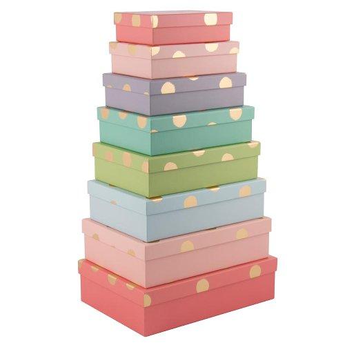gift boxes/rectangular/8 pcs. set