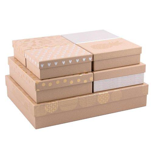 gift boxes/rectangular/7 pcs. set