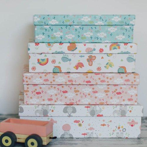 Geschenkboxen 8er Set Elefanten