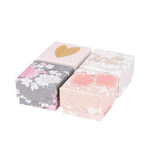 gift boxes/6x6x4cm/4 motives assorted