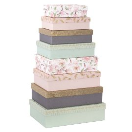 Gift boxes 8 pcs. set magnolia feather