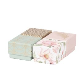 Gift boxes 4 pcs. set magnolia feather