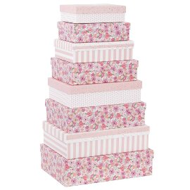 Gift boxes 8 pcs. set fairy flowers