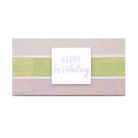 Geschenkbox Happy Birthday Streifen Grün