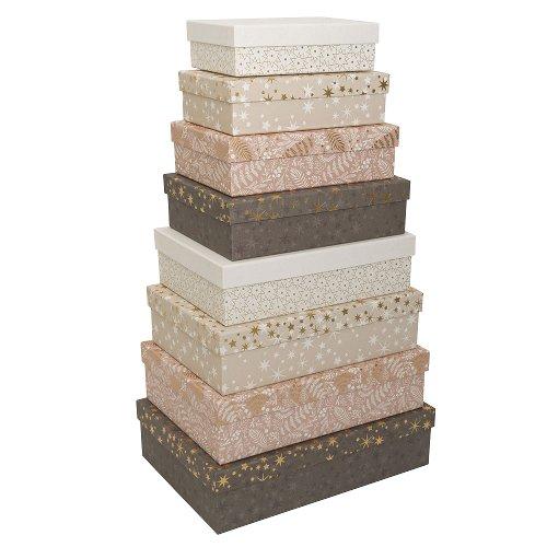 Gift boxes Christmas 8 pcs. set stars