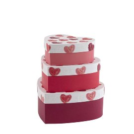 Gift boxes 3pcs. Set heart aquarell
