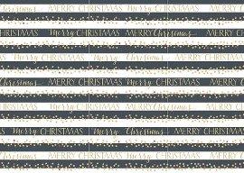 Geschenkpapierbogen Streifen schwarz weis