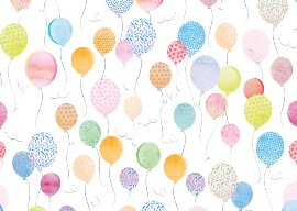 Wrapping paper balloons