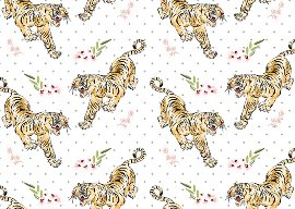 Wrapping paper finest tiger
