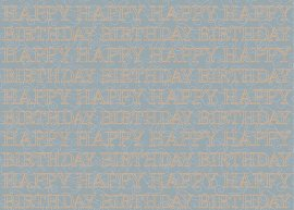 Wrapping paper finest happy birthday