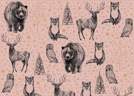 Geschenkpapierbogen Tiere Kraftrippe