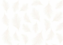 Wrapping paper feather