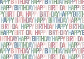 Wrapping paper happy birthday