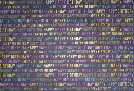 Wrapping paper happy birthday colours