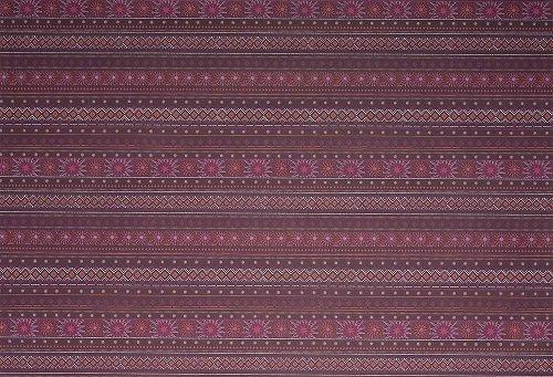 Geschenkpapierbogen Muster Bordeaux