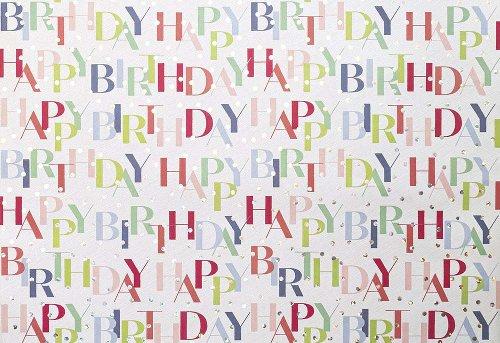 Geschenkpapier Happy Birthday Punkte