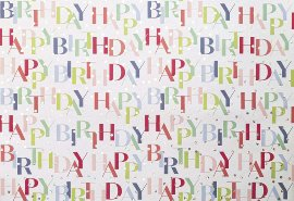 Wraping paper Happy Birthday Dots