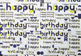 Wraping paper Happy Birthday Bauhaus design