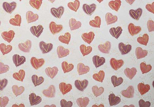 Geschenkpapier Herzen rot