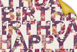 Wrapping paper birthday watercolour roses