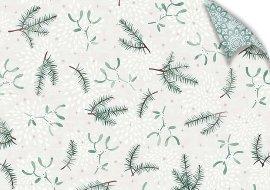 Geschenkpapier Weihnachten Tannenzweige Grün