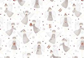Geschenkpapier Weihnachten Engel Weiß