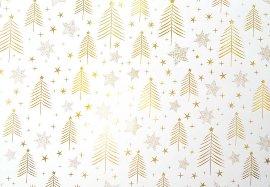 Geschenkpapier Weihnachten Tannenbäume Weiß