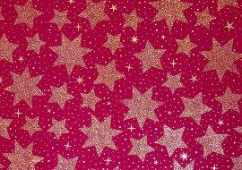 Geschenkpapier Weihnachten Sterne Rot
