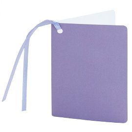 gift tag/5,5x7,5cm/violet