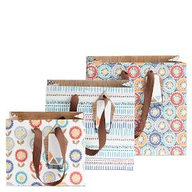 gift bags/triple assorted/15x12x7/
