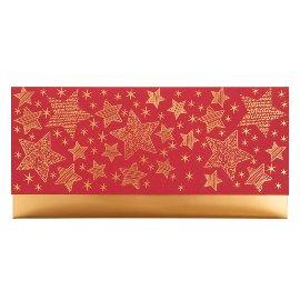 Geschenkumschlag Gutscheine Geld Sterne rot