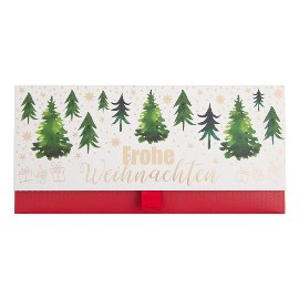 Geschenkumschlag Gutscheine Geld Tannenbäume