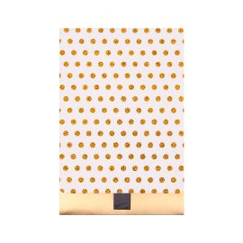 Geschenkumschlag Glitterdots Gold B6