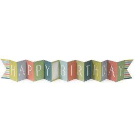 Concertina voucher card happy birthday