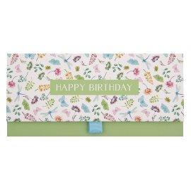 Gift envelope happy birthday flowers