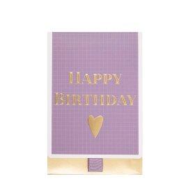 Geschenkumschlag Happy Birthday Violett B6