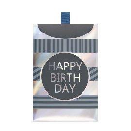 Geschenkumschlag Happy Birthday Silber B6