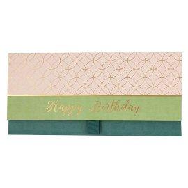 Gift envelope happy birthday colour blocking
