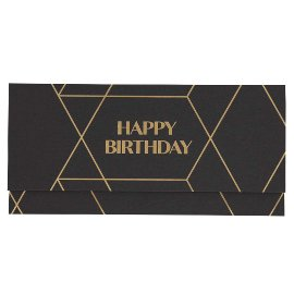 Gift envelope happy birthday black