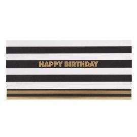 Gift envelope stripes happy birthday