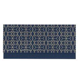 Geschenkumschlag Gutscheine Geld Finest Muster Blau