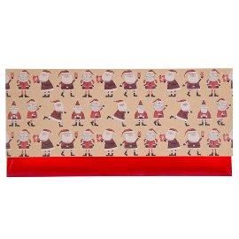 Geschenkumschlag Gutscheine Kraftpapier Weihnachtsmann