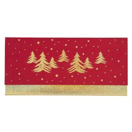 Gift envelope fir trees
