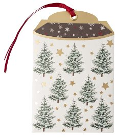 Gift envelope Christmas trees B6