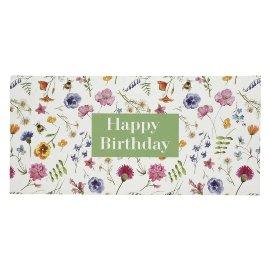 Geschenkumschlag Gutscheine Geld Blüten Happy Birthday