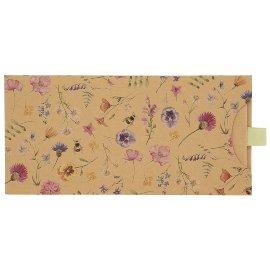 Geschenkumschlag Organics Kraftpapier Gutschein Geld Kraft Blütenwiese