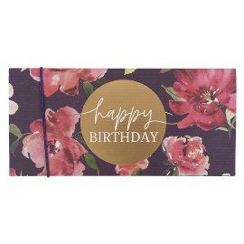 Geschenkumschlag Aquarellrosen Happy Birthday